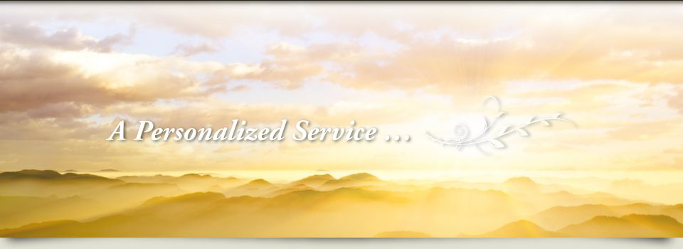 Sunset; a personalized service...