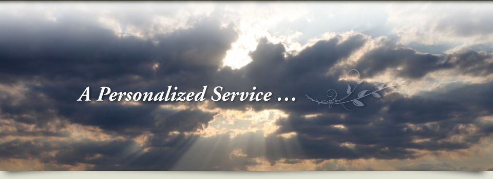 Rays of sunshine piercing a cloudy sky; a personalized service...